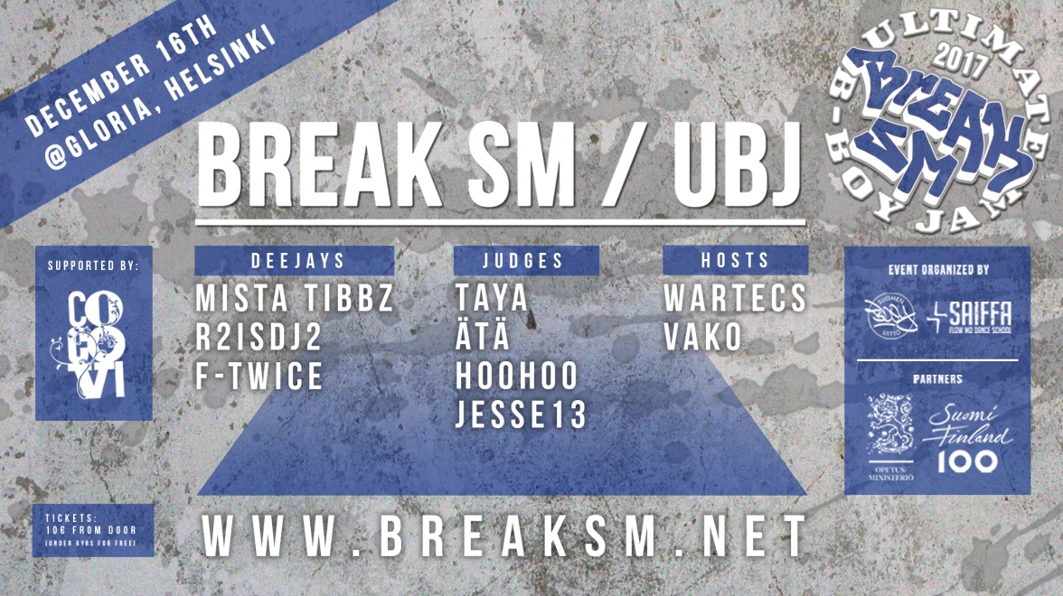 BREAK SM FINAALIT 2017 event ja instakuva updated