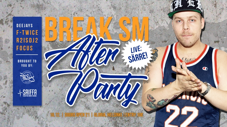 BREAK SM after party 2017 event ja instakuva