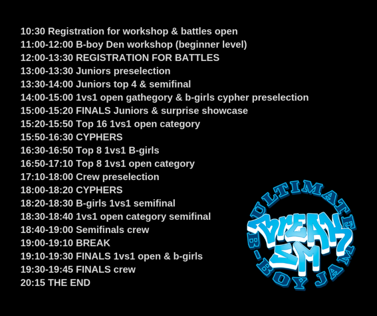 Alustava aikataulu BreakSM 2018 / timetable for breakSM 2018
